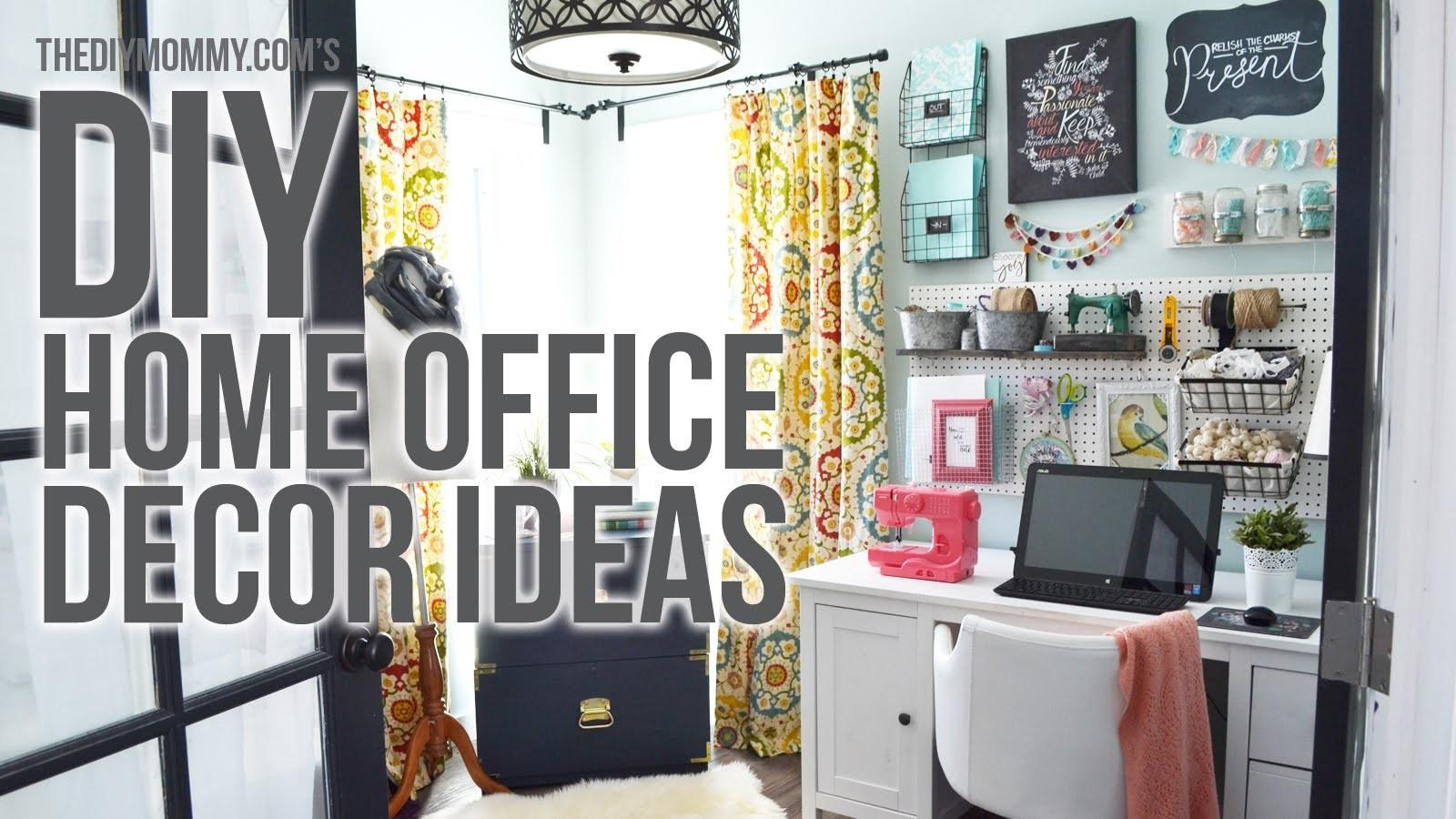 Craft Room Home Office Tour Easy Diy Decor