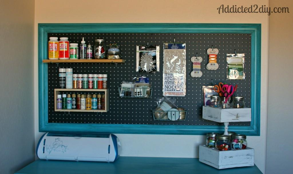 Craft Room Pegboard Organization Addicted Diy