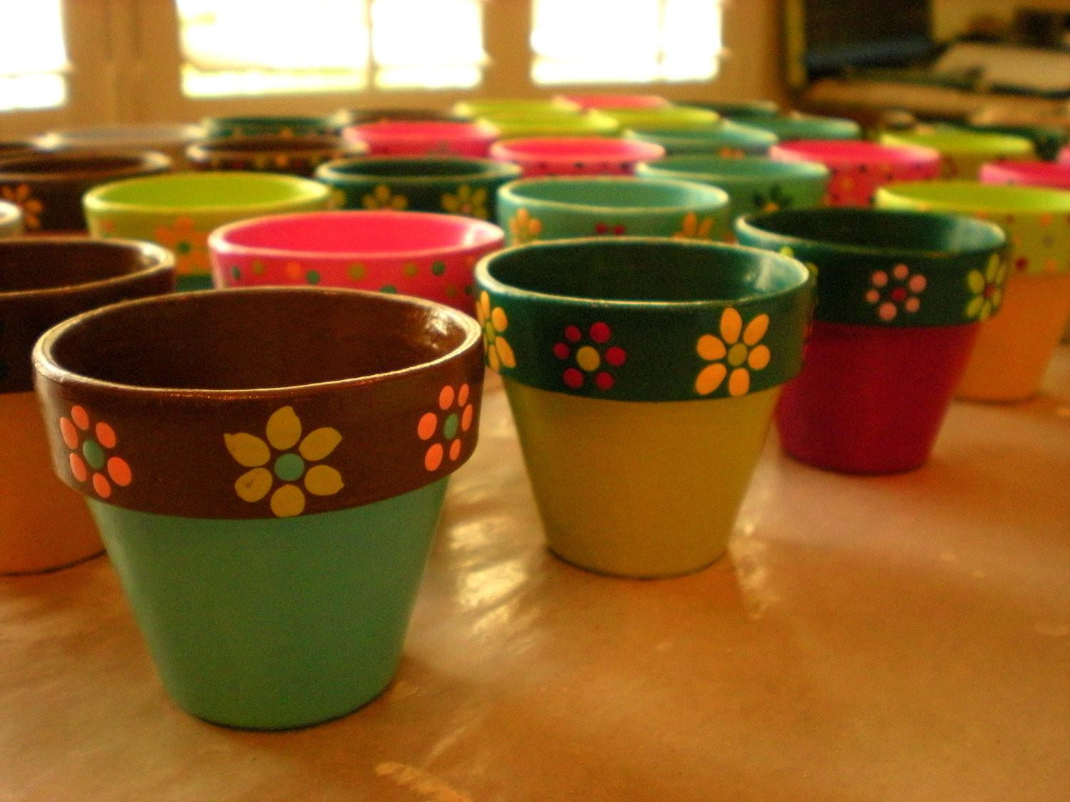 Crafternoon Decorated Flower Pots Hays Public Library