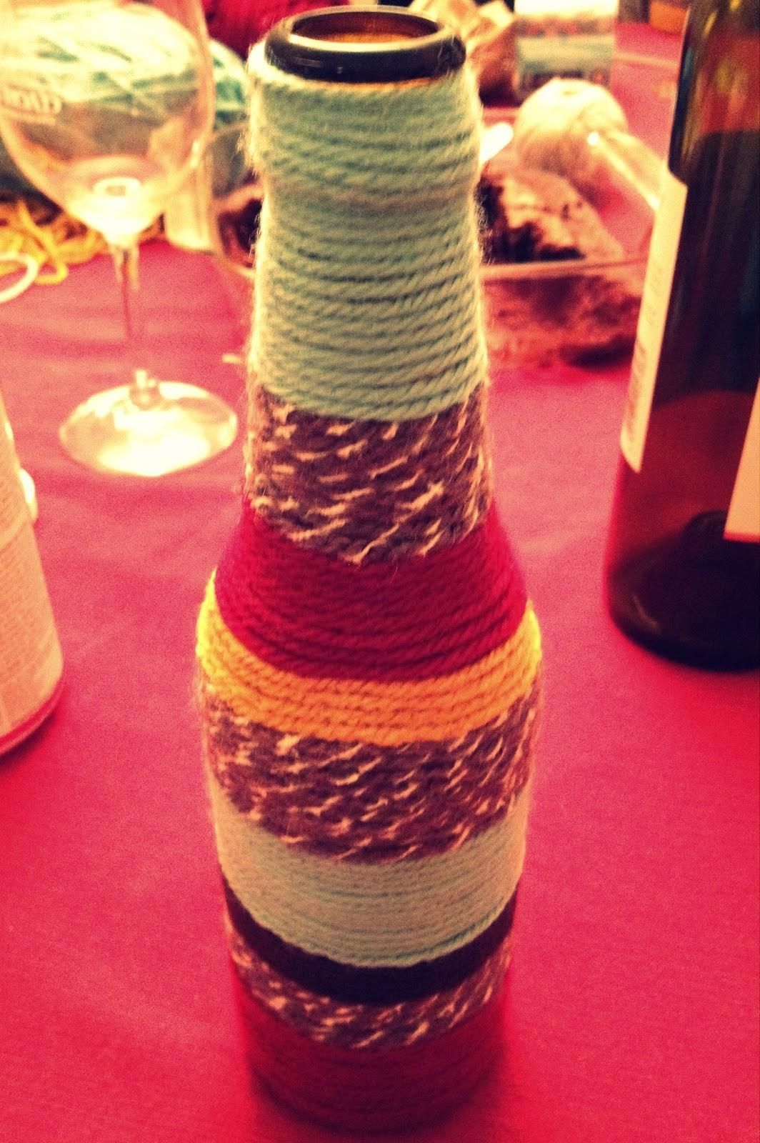 Crafternoon Delight Diy Yarn Bottle Vases