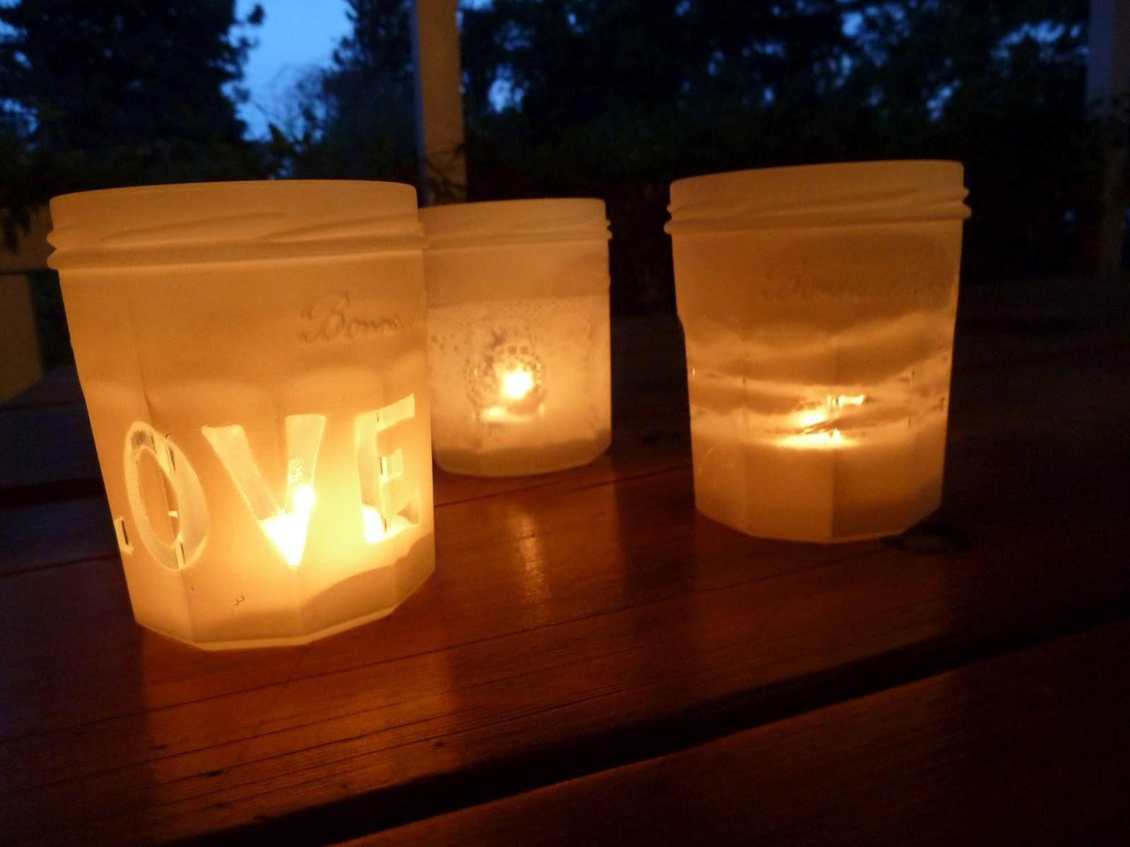 Crafternoon Diy Candle Holders Out Old Jars