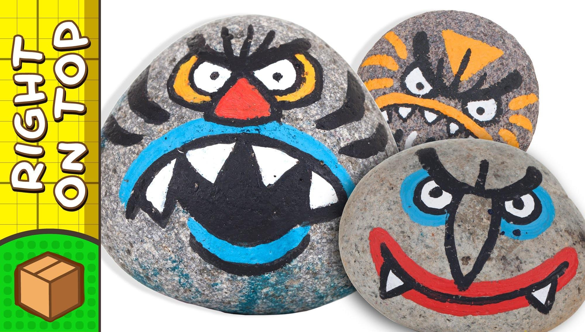 Crafts Ideas Kids Stone Face Painting Diy