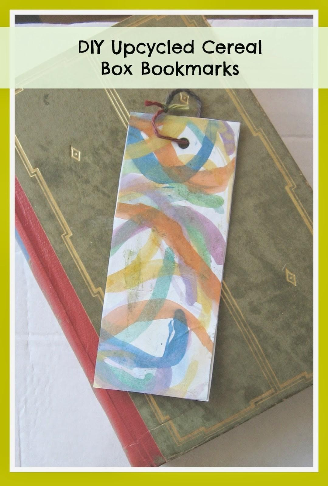 Crafts Names Things Diy Upcycled Cereal Box Bookmarks