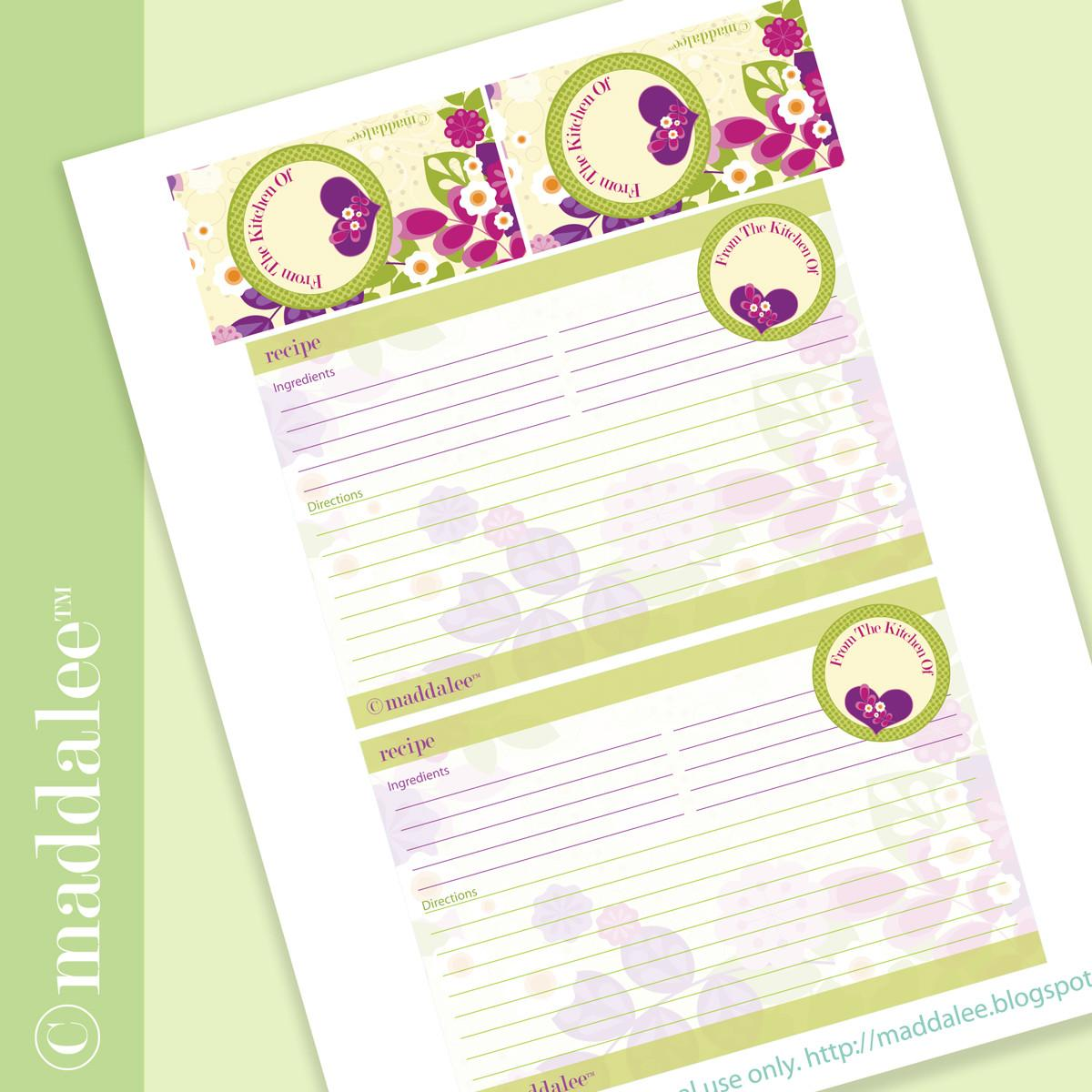 Crafts Recipe Cards