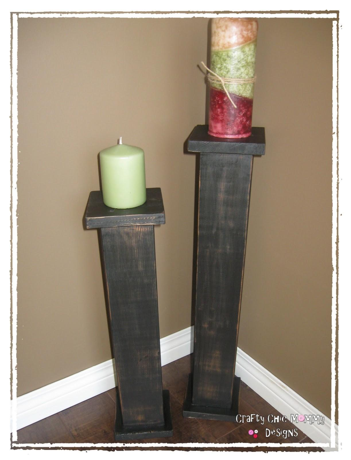 Crafty Chic Mommy Diy Candle Stands
