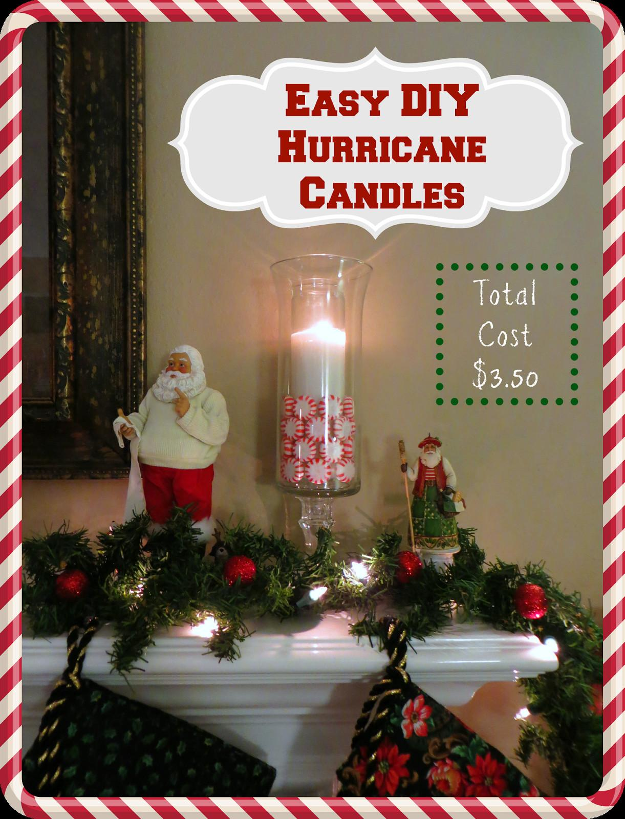 Crafty Crosby Easy Diy Hurricane Christmas Candles