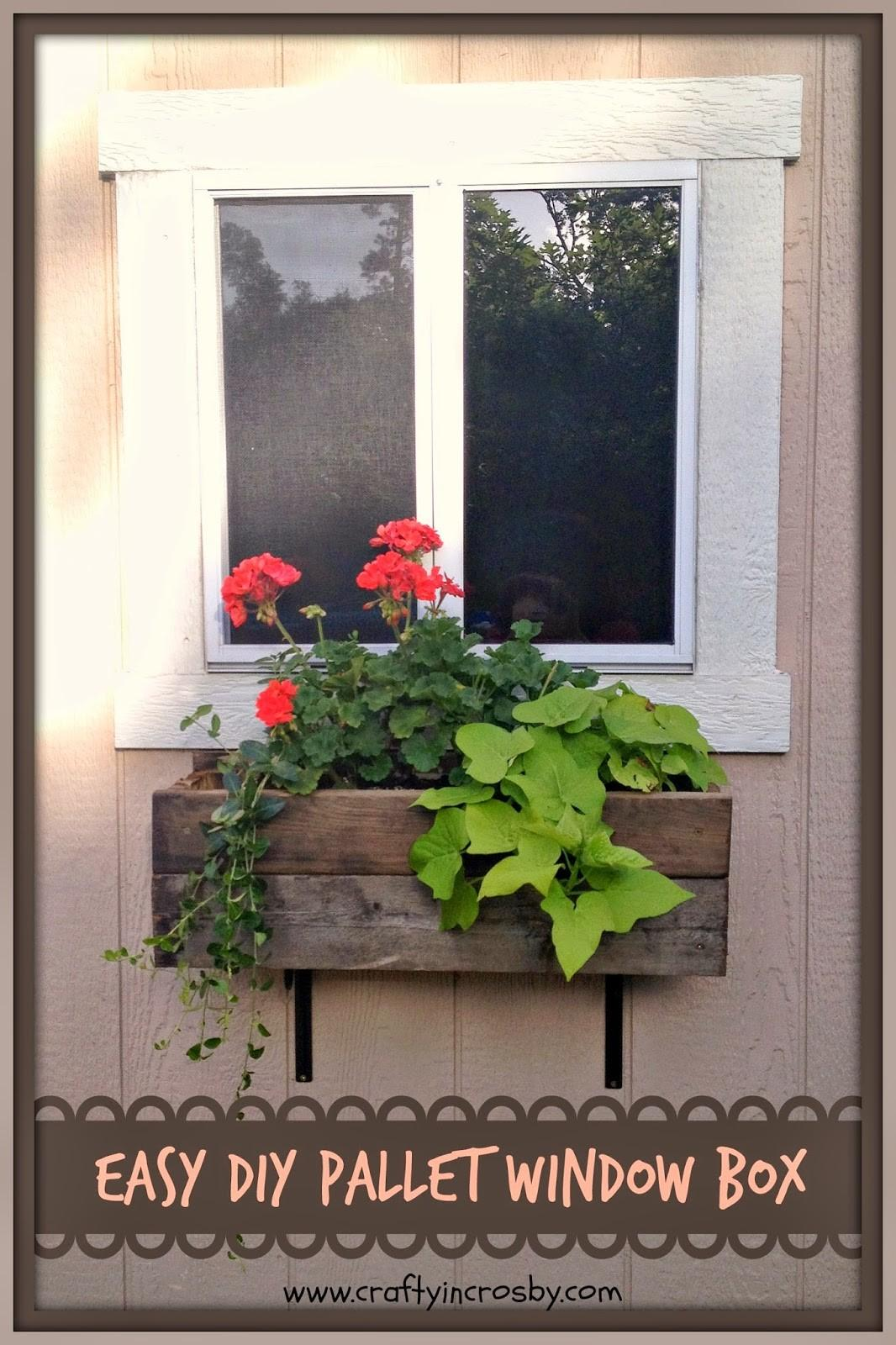 Crafty Crosby Easy Diy Pallet Window Box