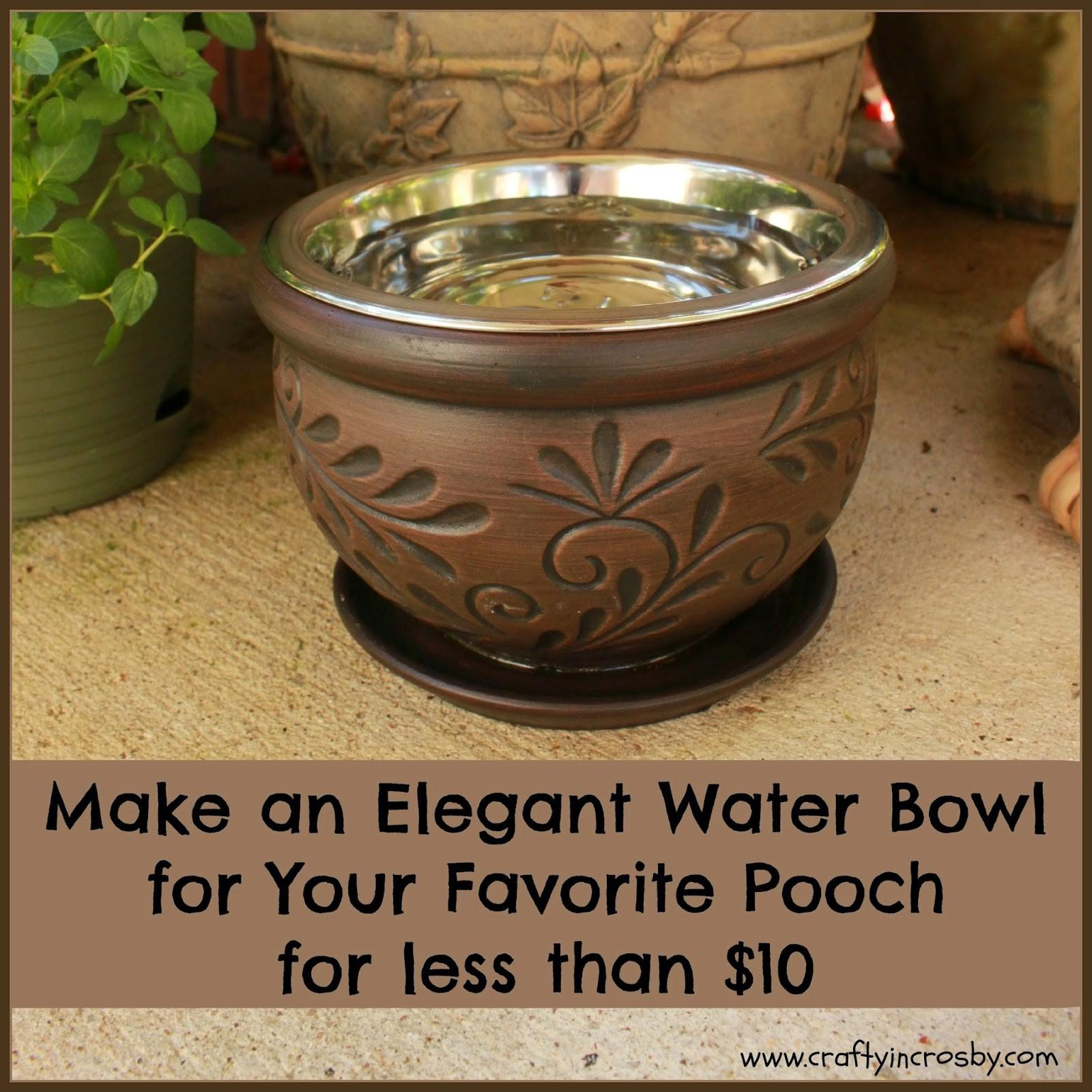 Crafty Crosby Elegant Diy Dog Bowl