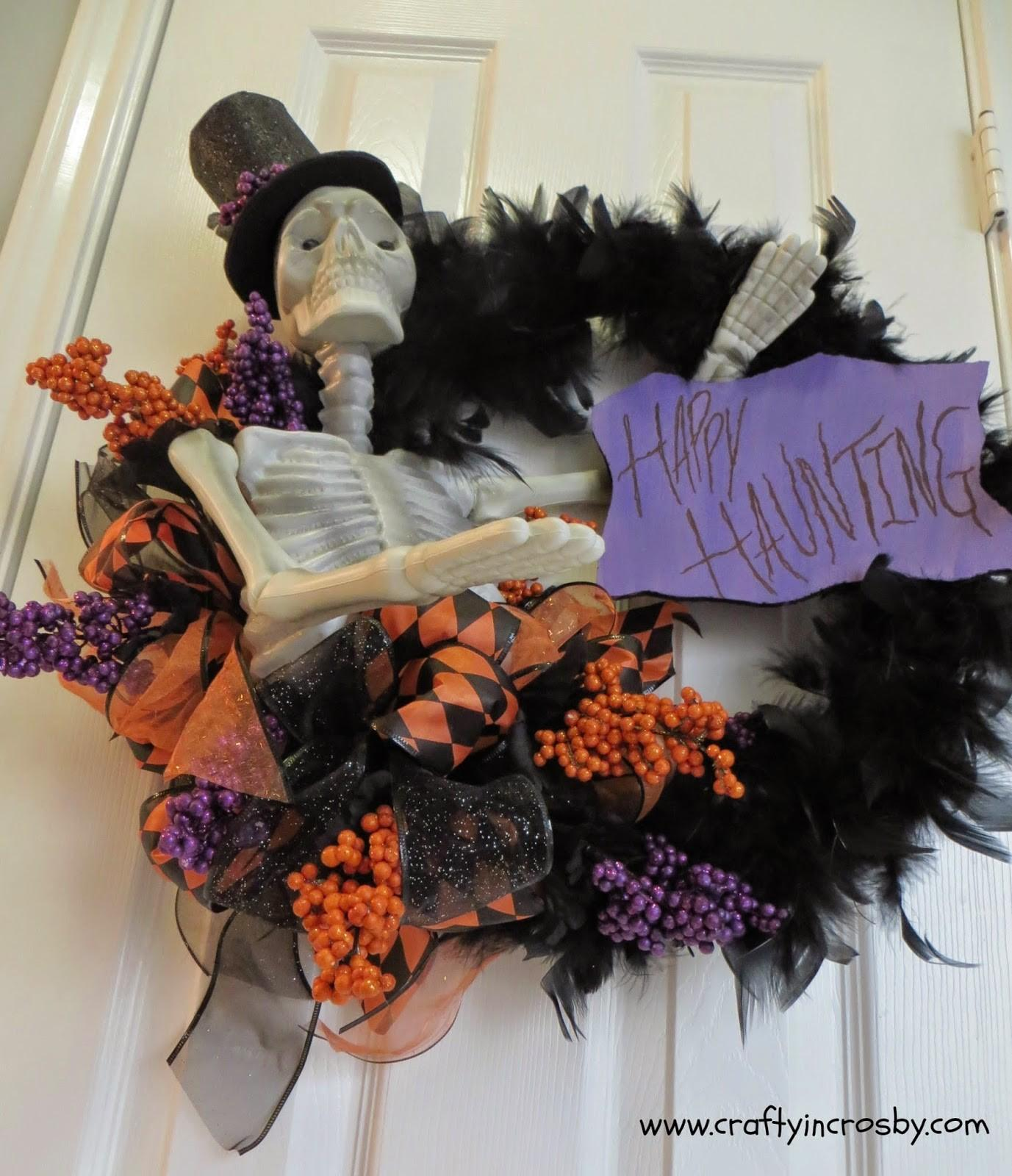 Crafty Crosby Grandinroad Halloween Wreath Knock