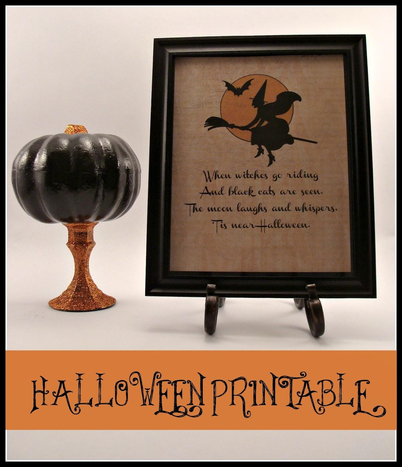 Crafty Crosby Halloween Printable