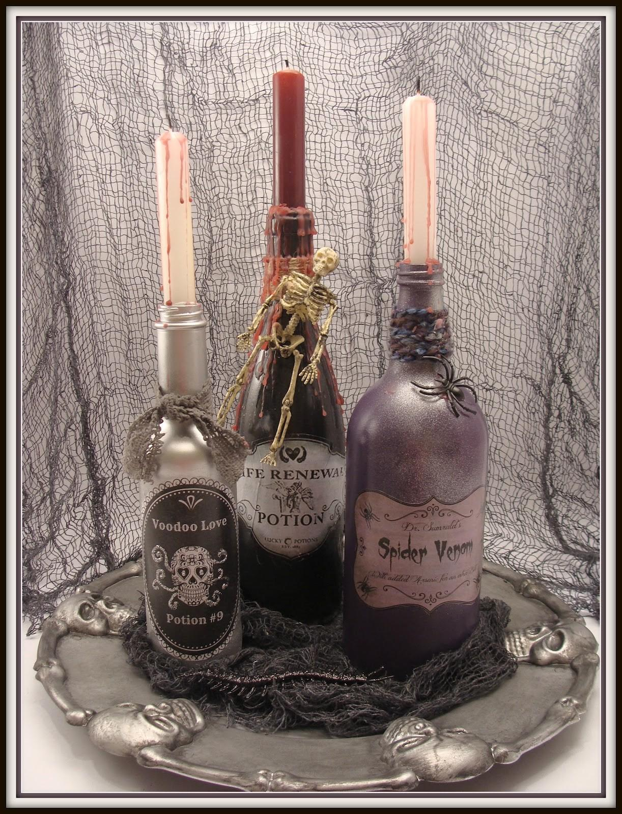 Crafty Crosby Spooky Potion Bottles Dollar Store Tray