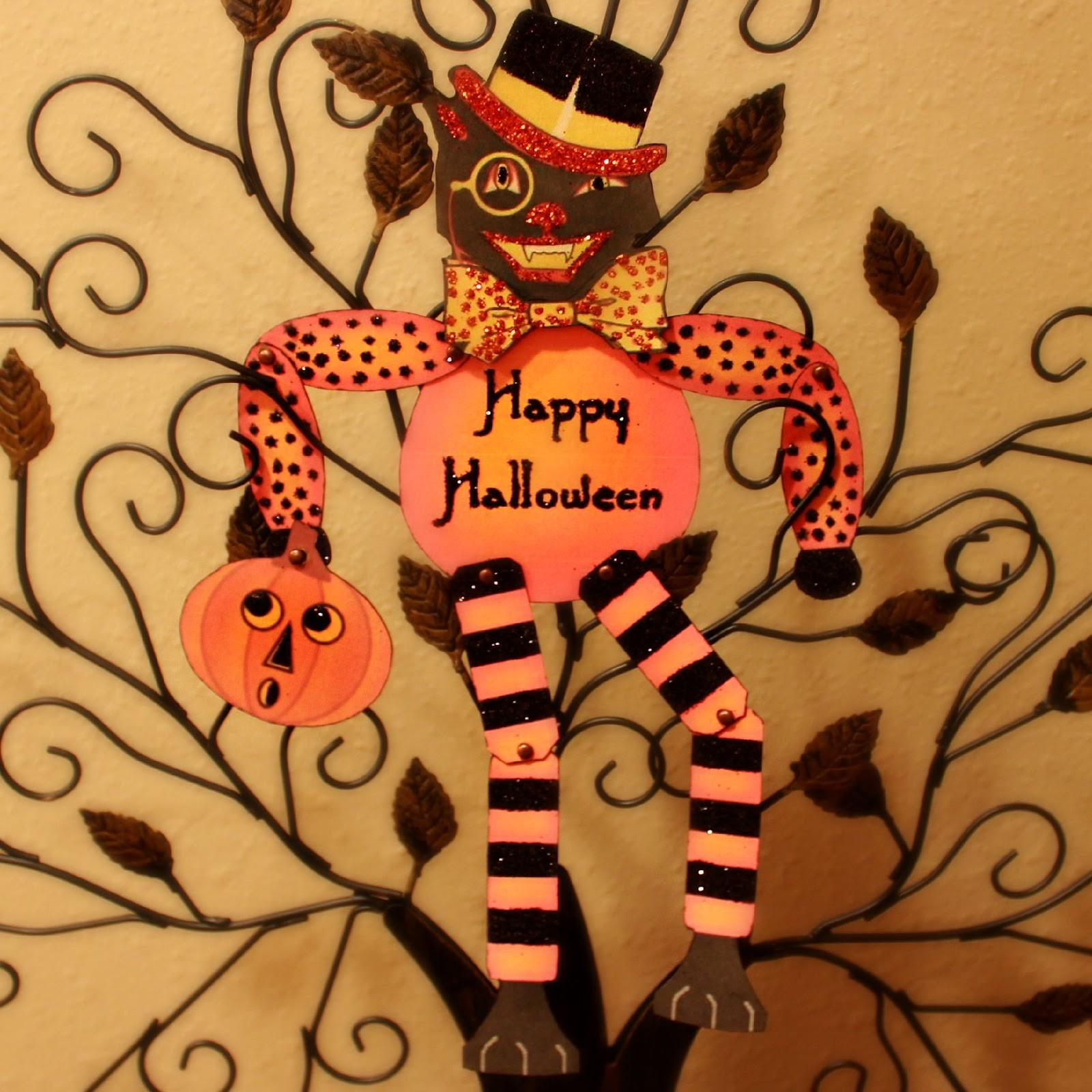 Crafty Crosby Vintage Halloween Cat Paper Doll