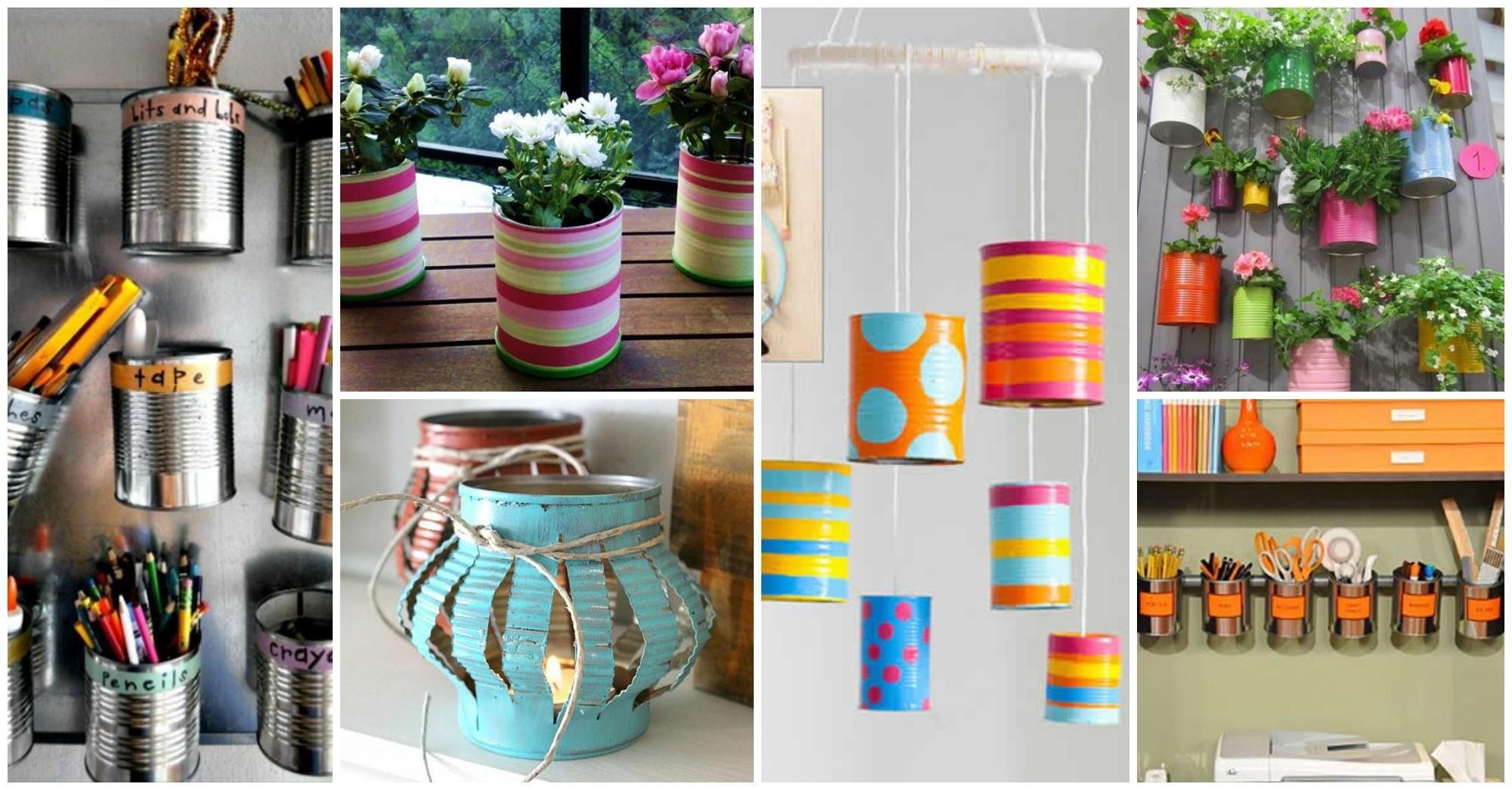 Crafty Diy Projects Using Tin Cans Cozy Home