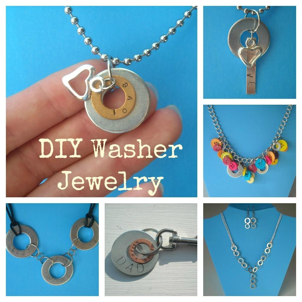 Crafty Imaginings Silly Things More Diy Washer Jewelry