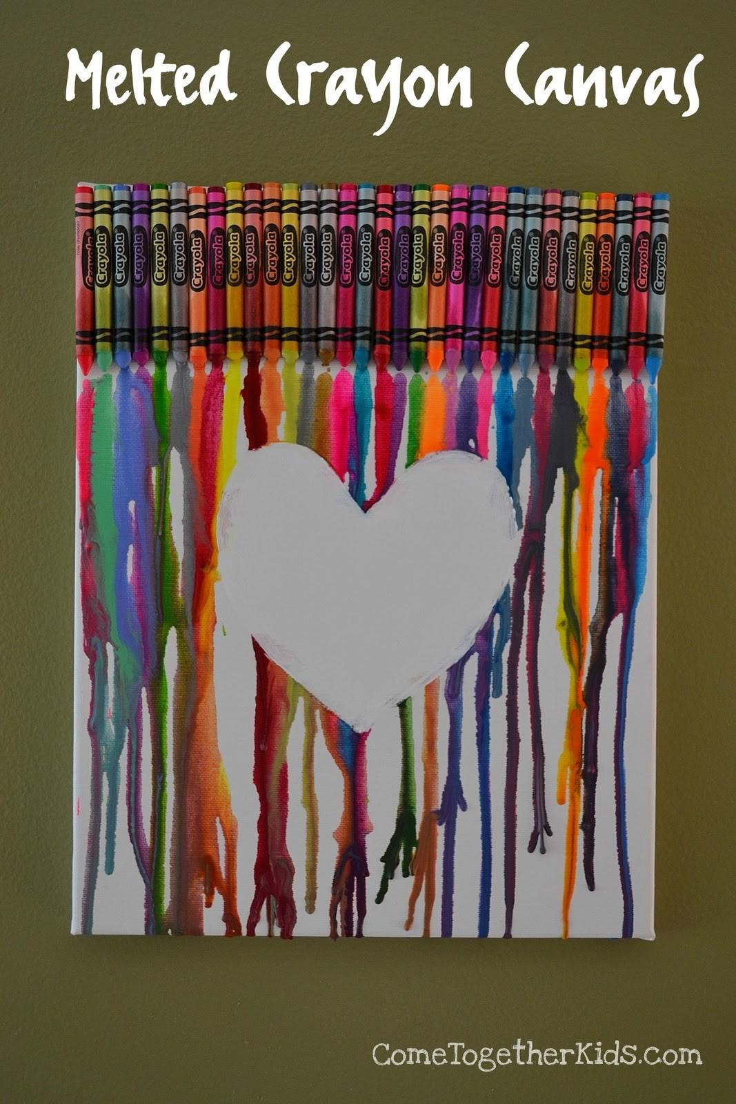 Crayons Crafts Ideas Melted Art Peacock