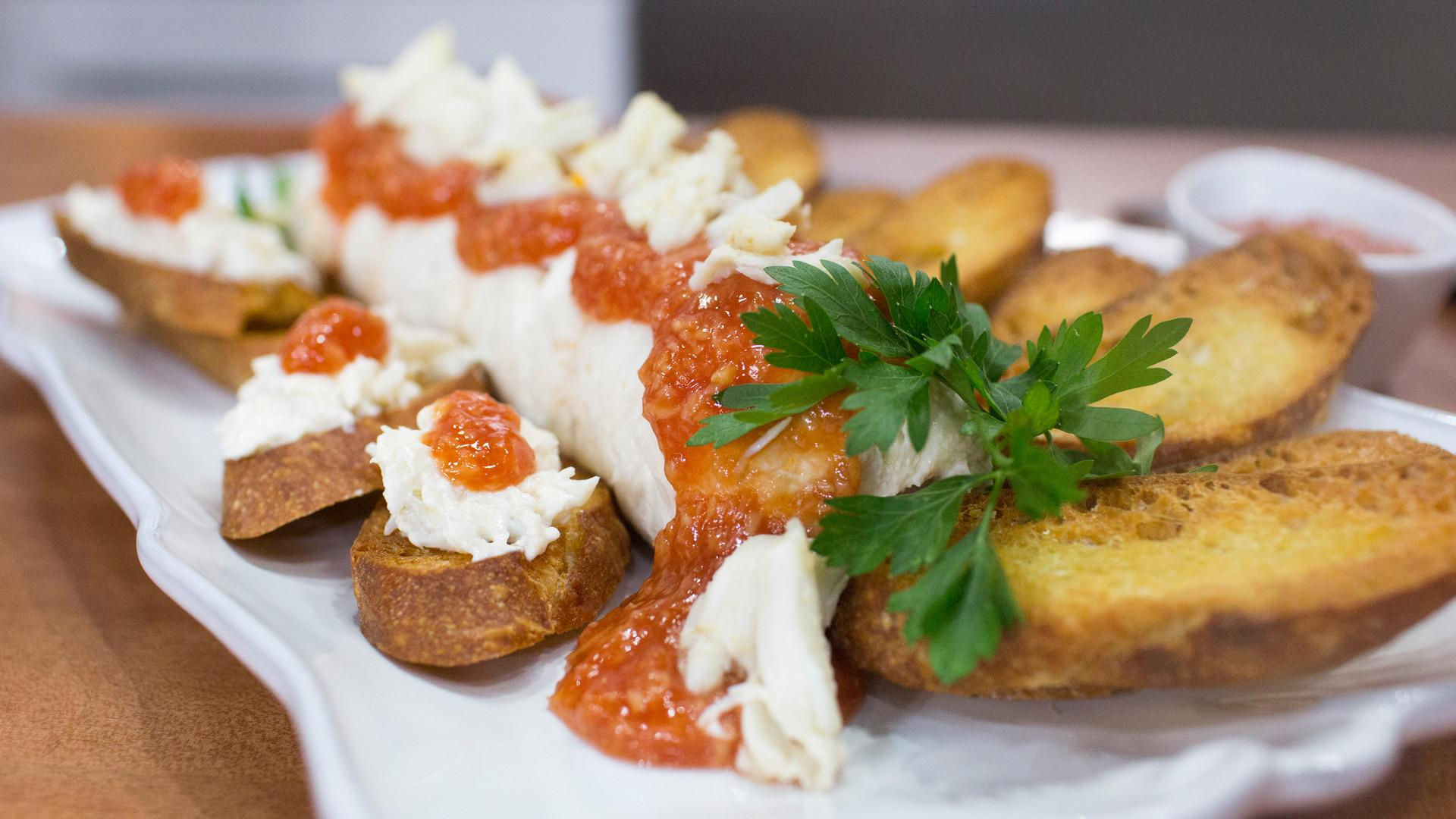 Cream Cheese Crab Spread Homemade Crostini Today