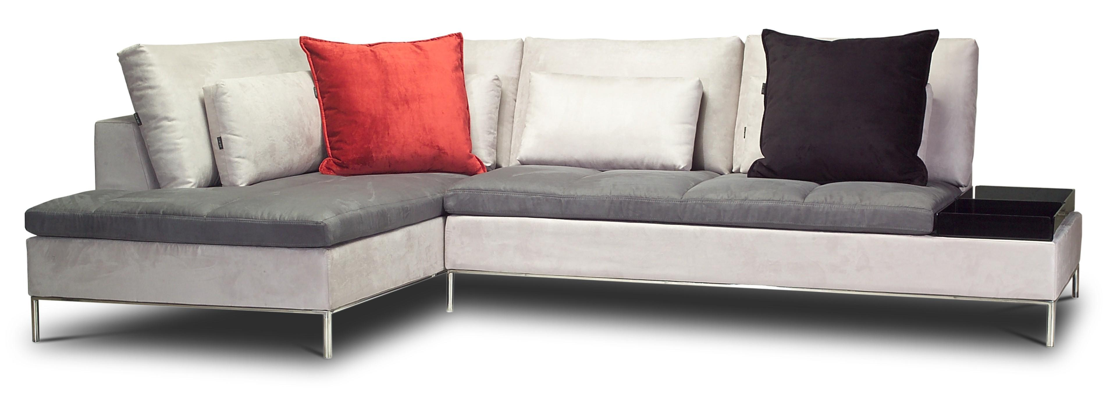 Cream Color Shaped Sectional Couch Gray Leather