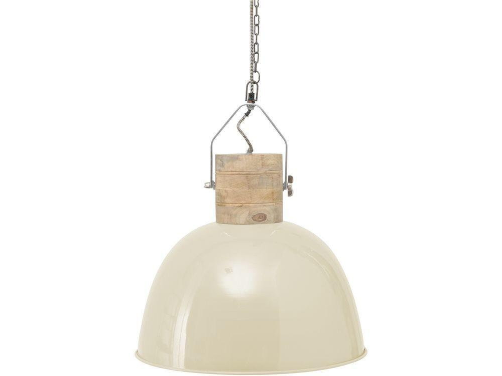 Cream Metal Pendant Light Warehouse Style