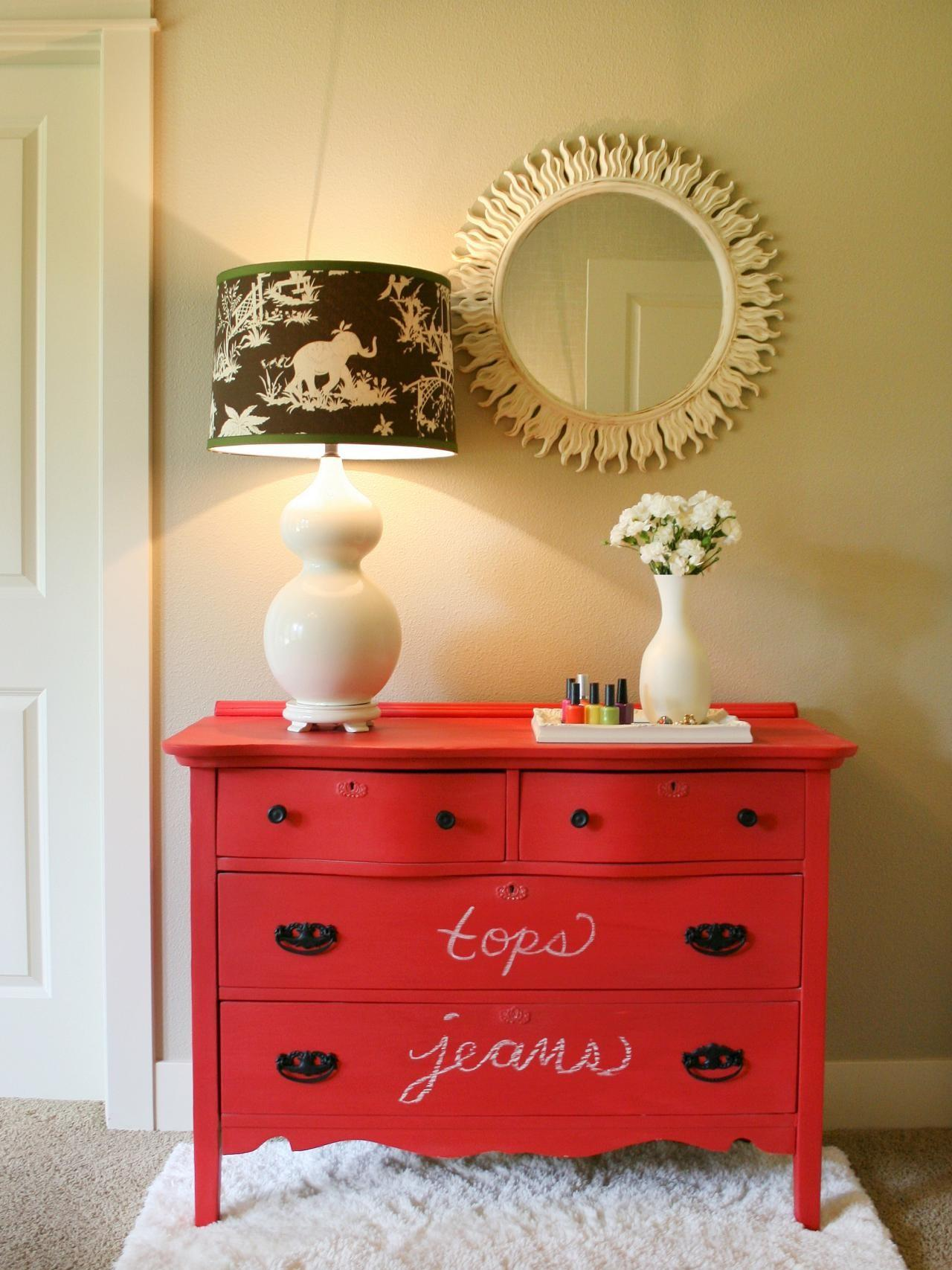 Create Colorful Chalkboard Dresser
