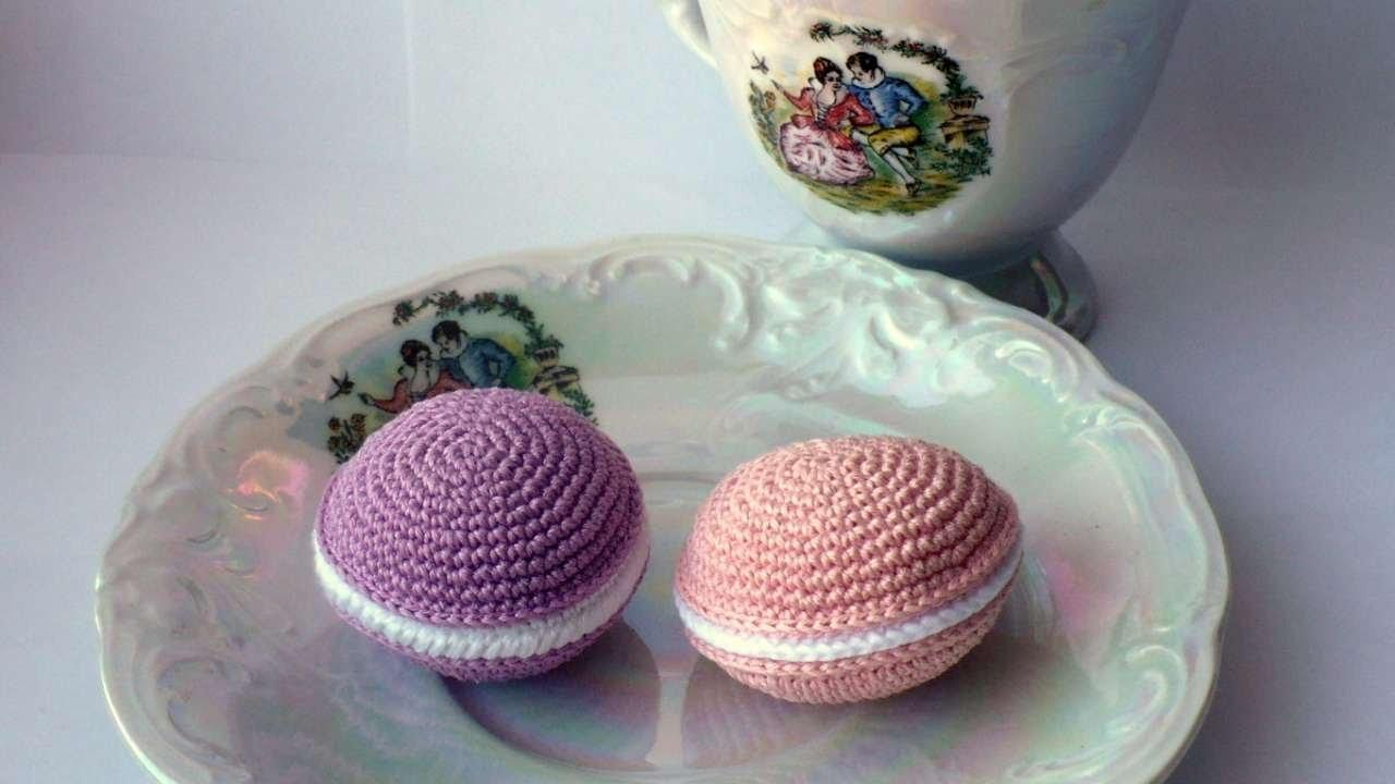 Create Crochet French Sweet Macaron Diy Crafts