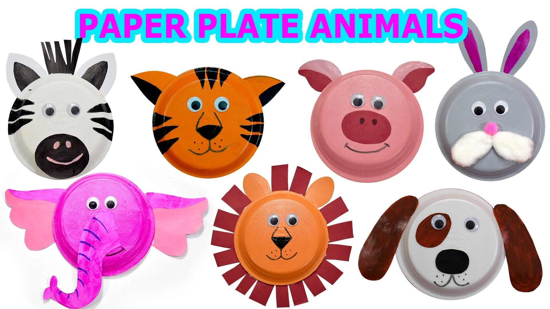 Create Cute Animals Using Paper Plates Craft