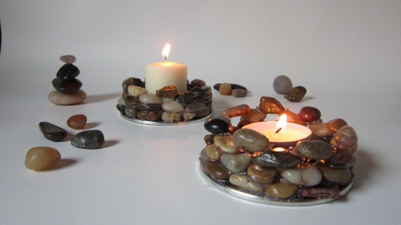 Create Earthy Stone Candle Holders Diy Guidecentral