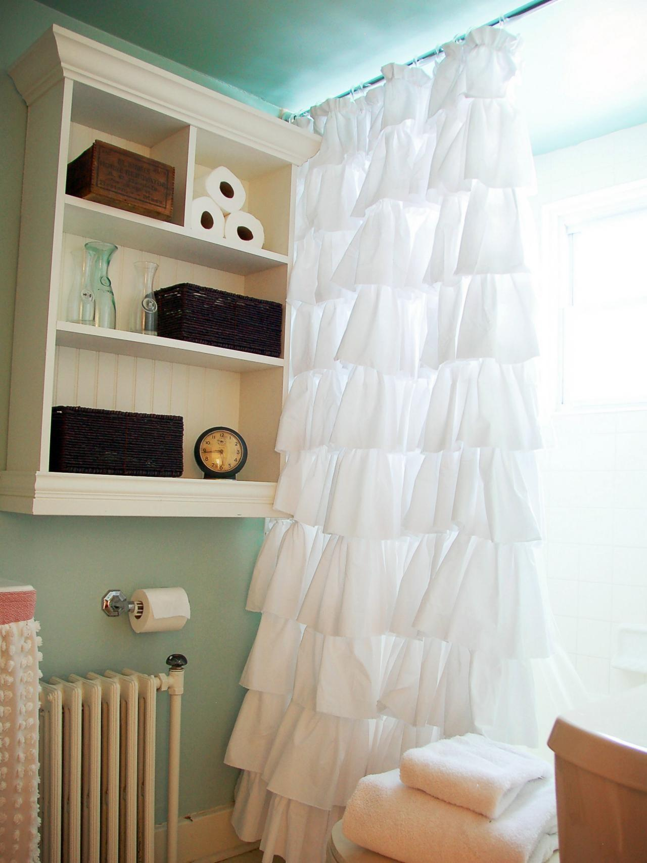 Create Easy Custom Ruffled Shower Curtain