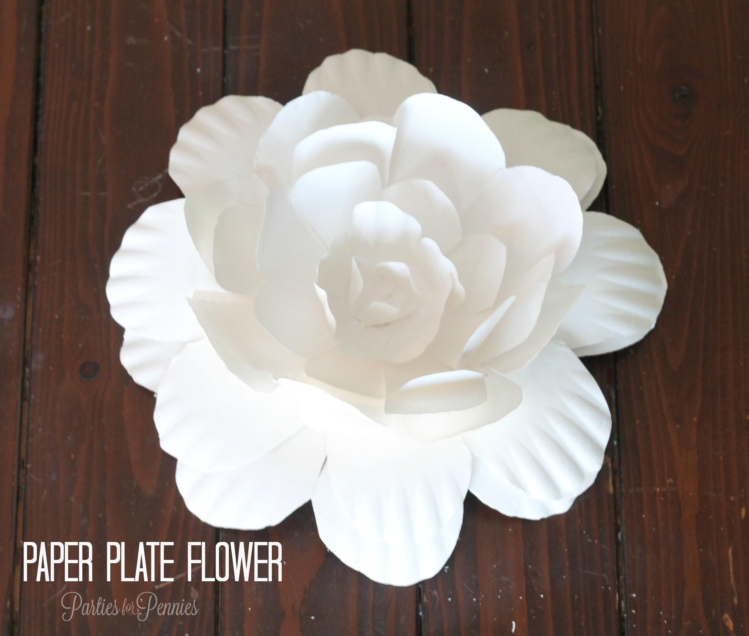 Create Flower Paper Plate Parties
