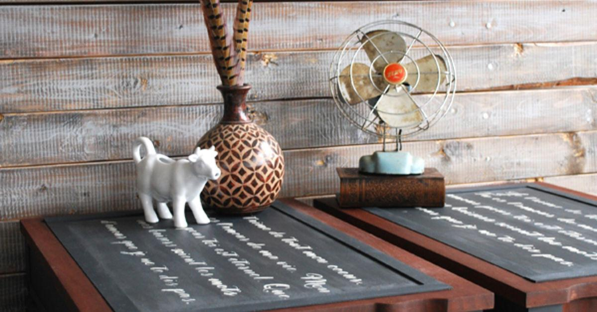 Create French Script Two Toned End Tables Hometalk