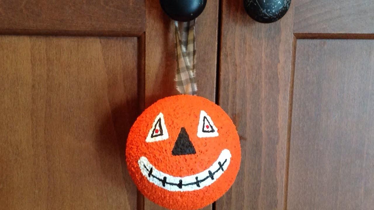 Create Fun Vintage Halloween Pumpkin Ornament