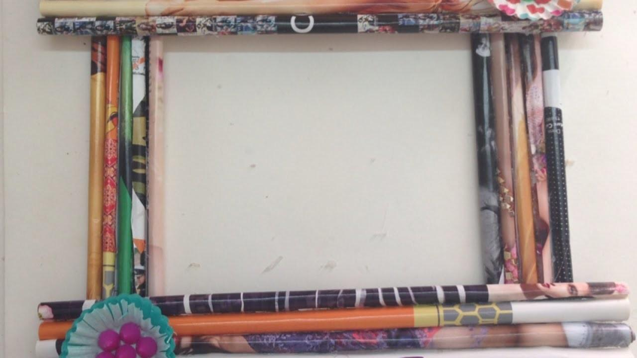 Create Funky Rolled Diy Paper Frame