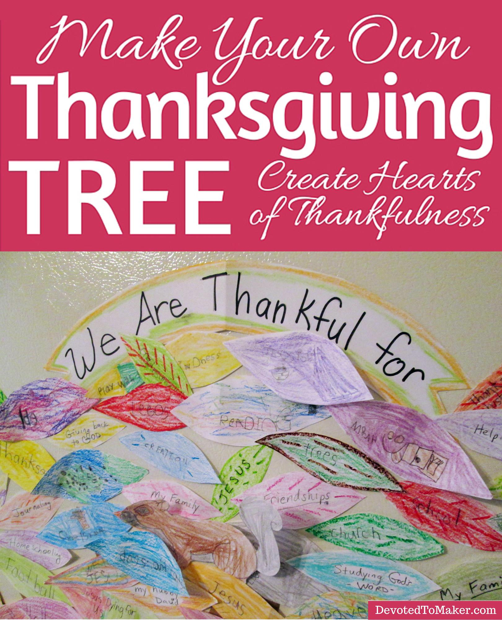 Create Hearts Thankfulness Thanksgiving Tree