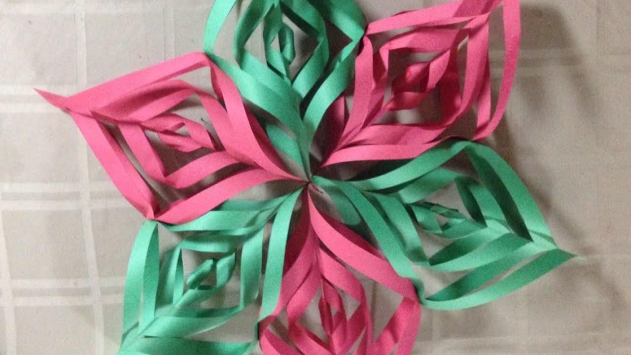 Create Pretty Construction Paper Christmas Star Diy