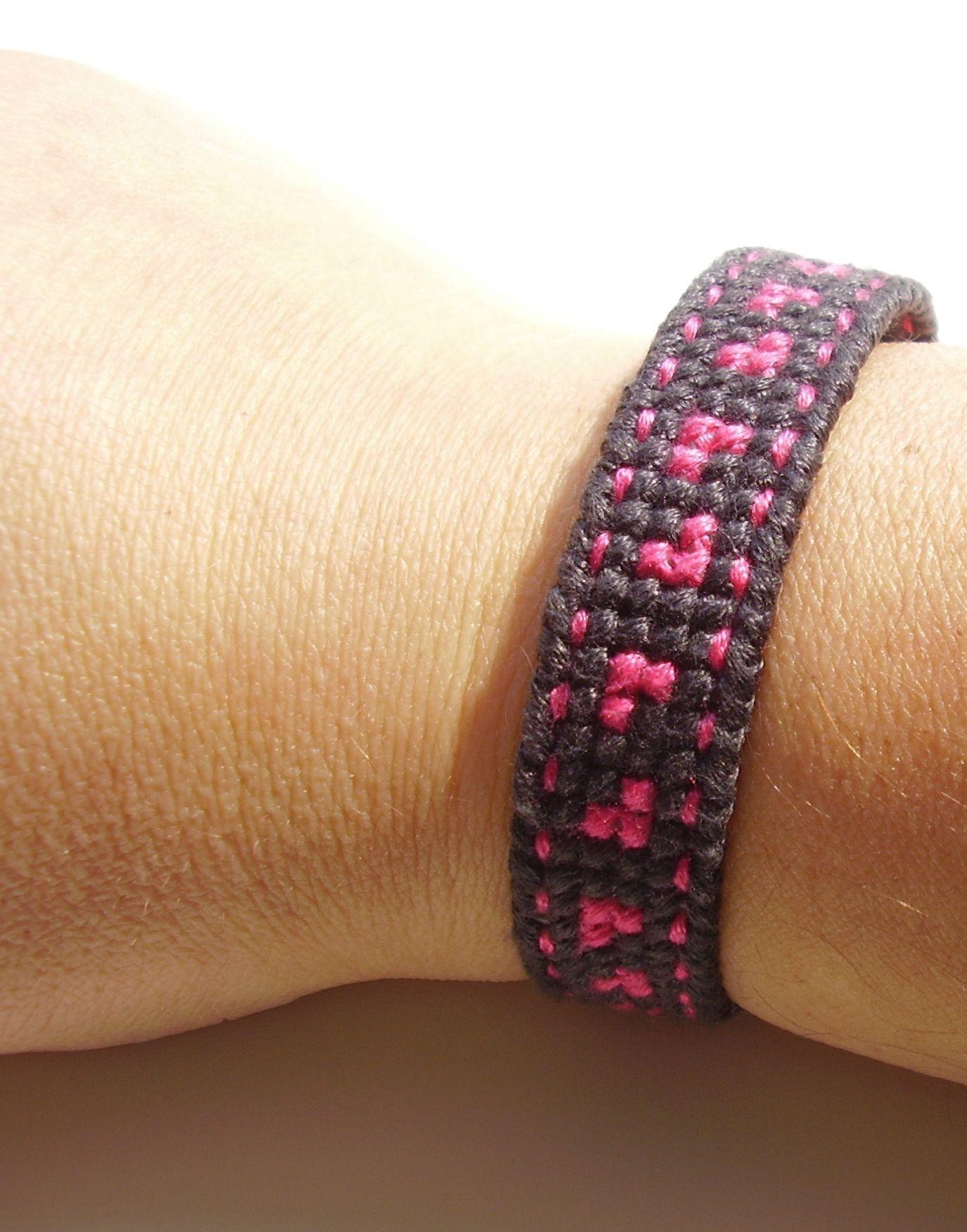 Create Simple Cross Stitch Cuff Bracelet
