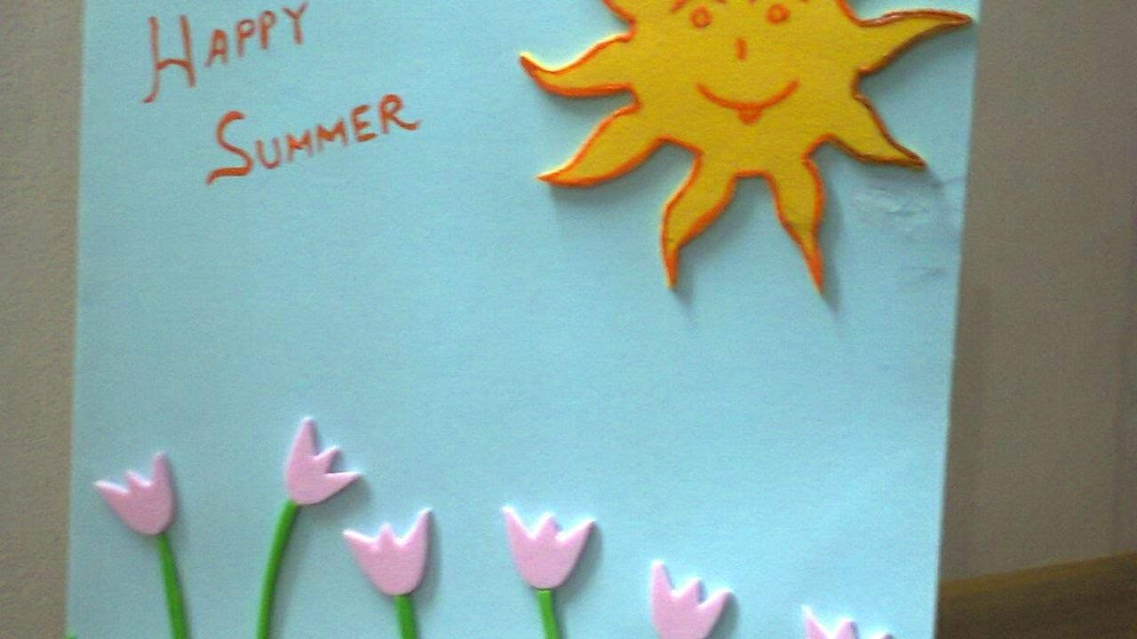 Create Summer Vacation Wishes Card Diy Crafts