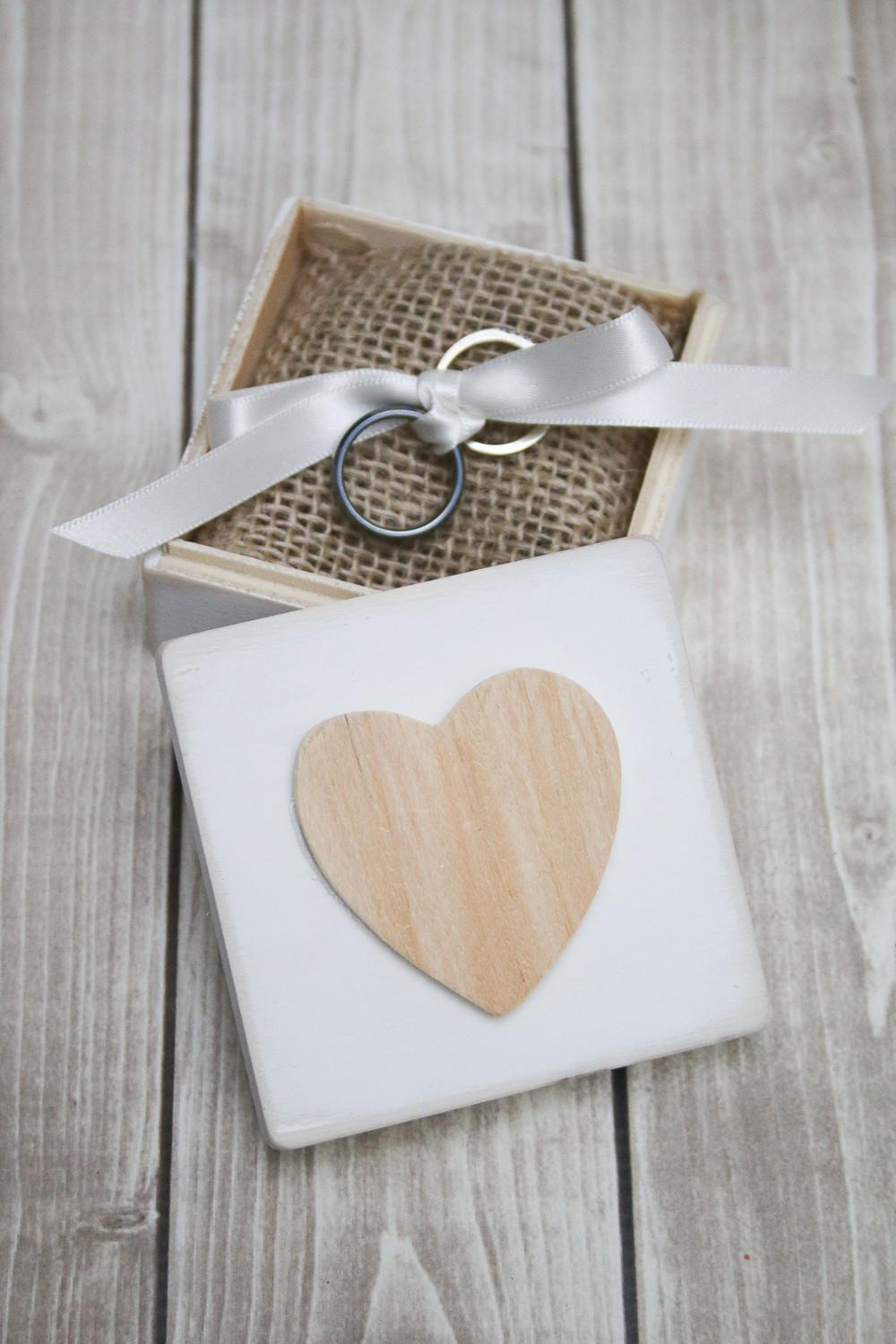 Create These Rustic Ring Bearer Boxes
