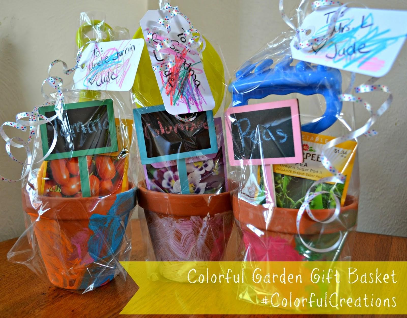 Creating Colorful Garden Gift Basket Using Crayola