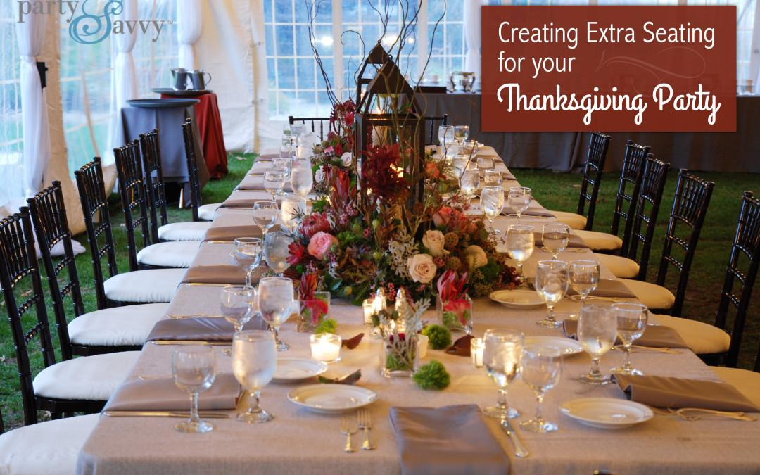 Creating Extra Seating Your Thanksgiving Party