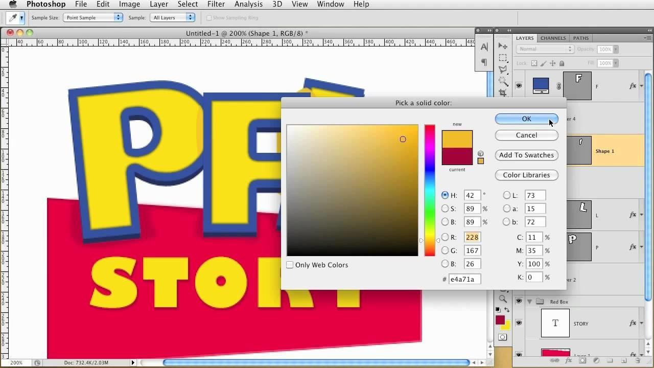 Creating Toy Story Looking Logo
