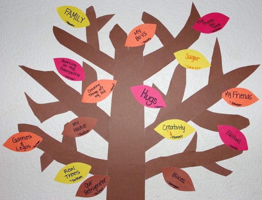 Creating Your Thankful Tree