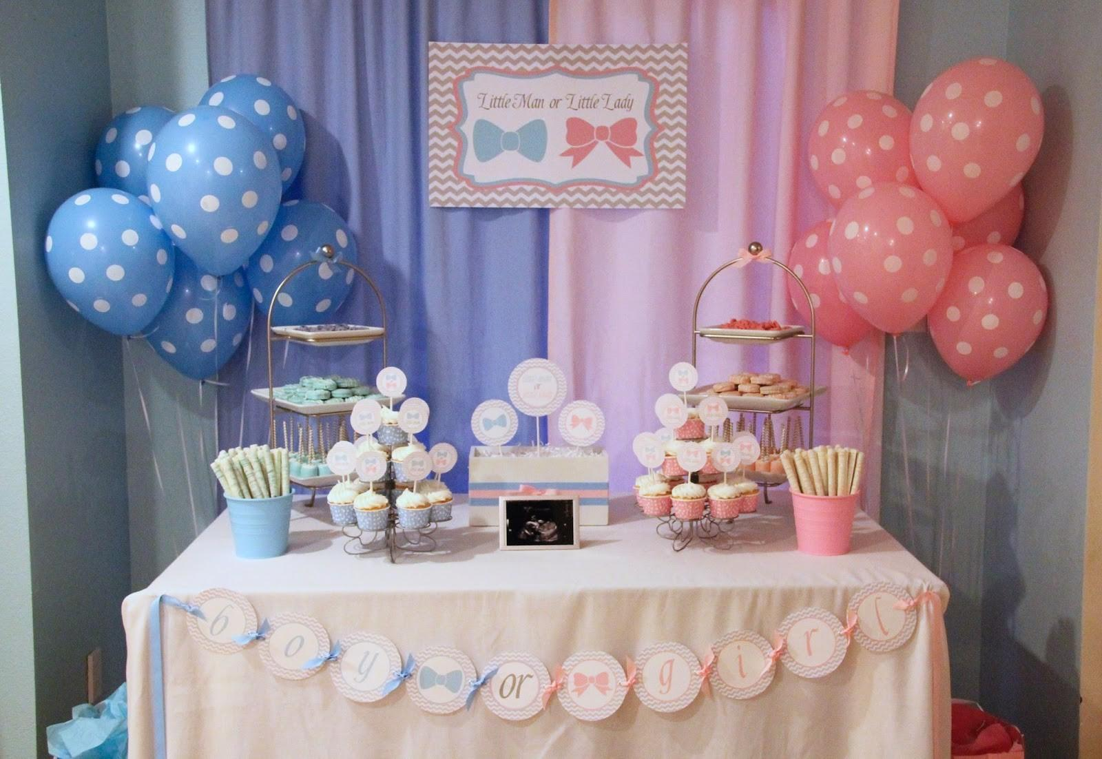 Creations Gender Reveal Party Little Man Lady