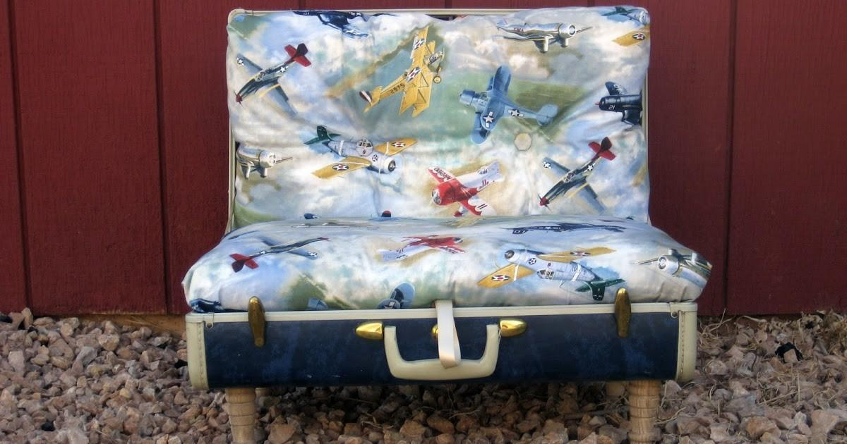 Creative Blog Recycled Suitcase Chair