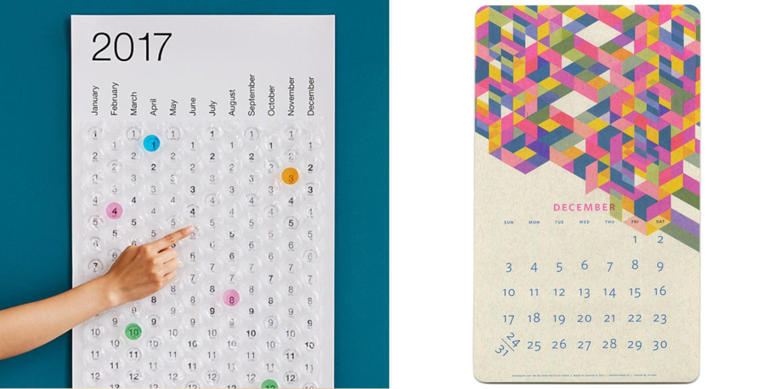 Creative Calendars Planners 2017 Cool Hunting