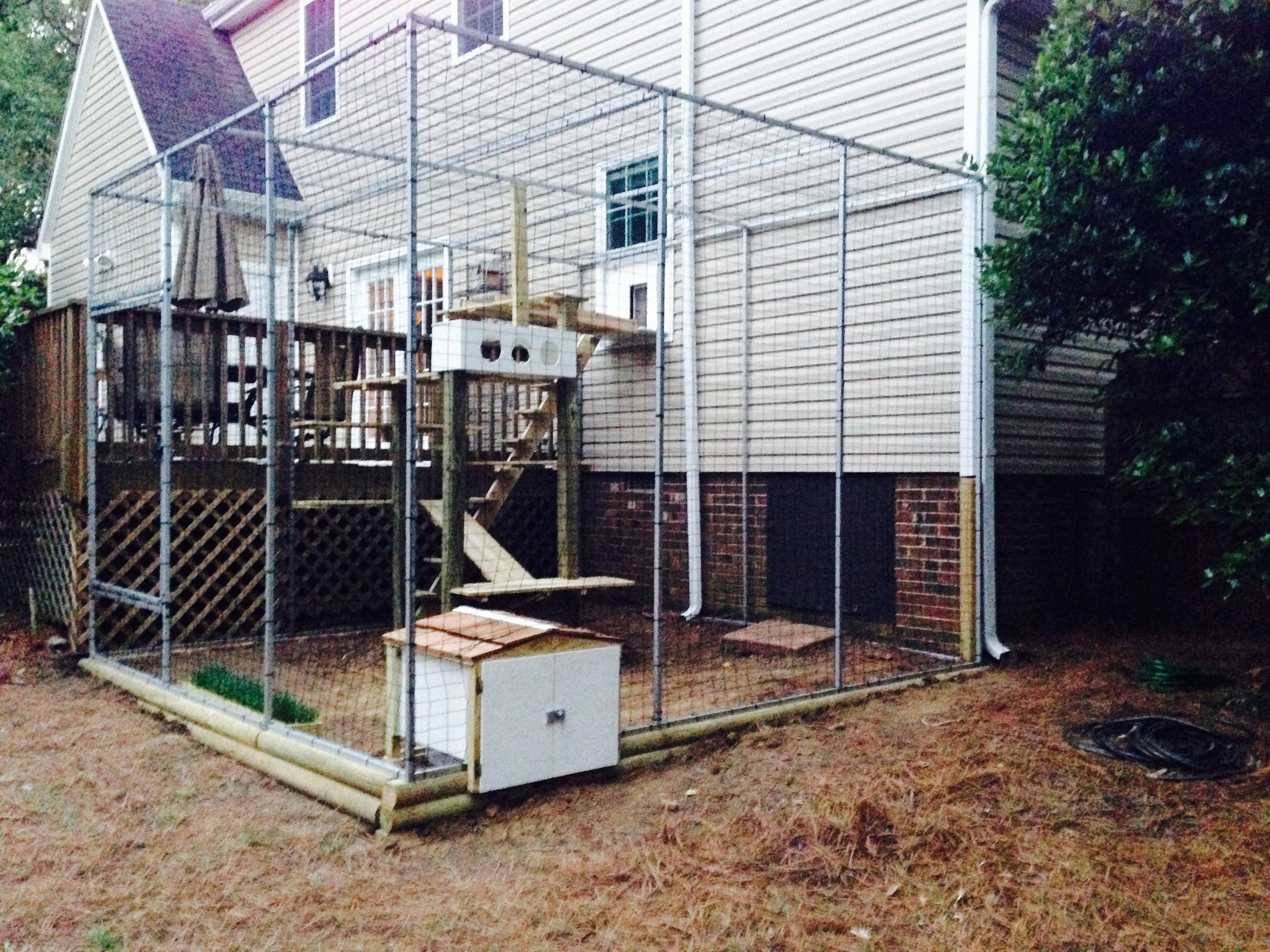Creative Catio Featuring Outdoor Cat House Plans Ideas