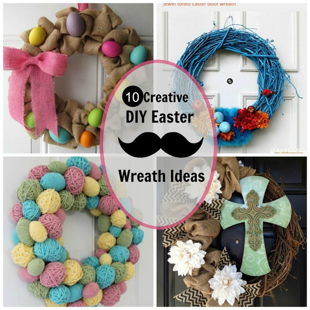 Creative Diy Easter Wreath Ideas Chic Adventure