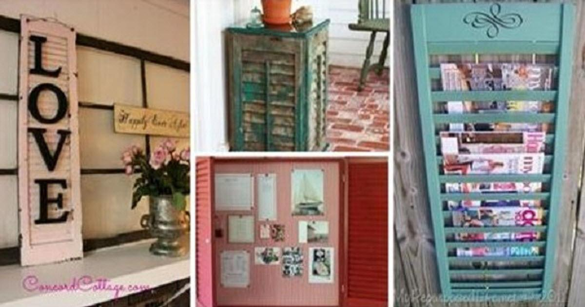 Creative Diy Projects Can Window Shutters