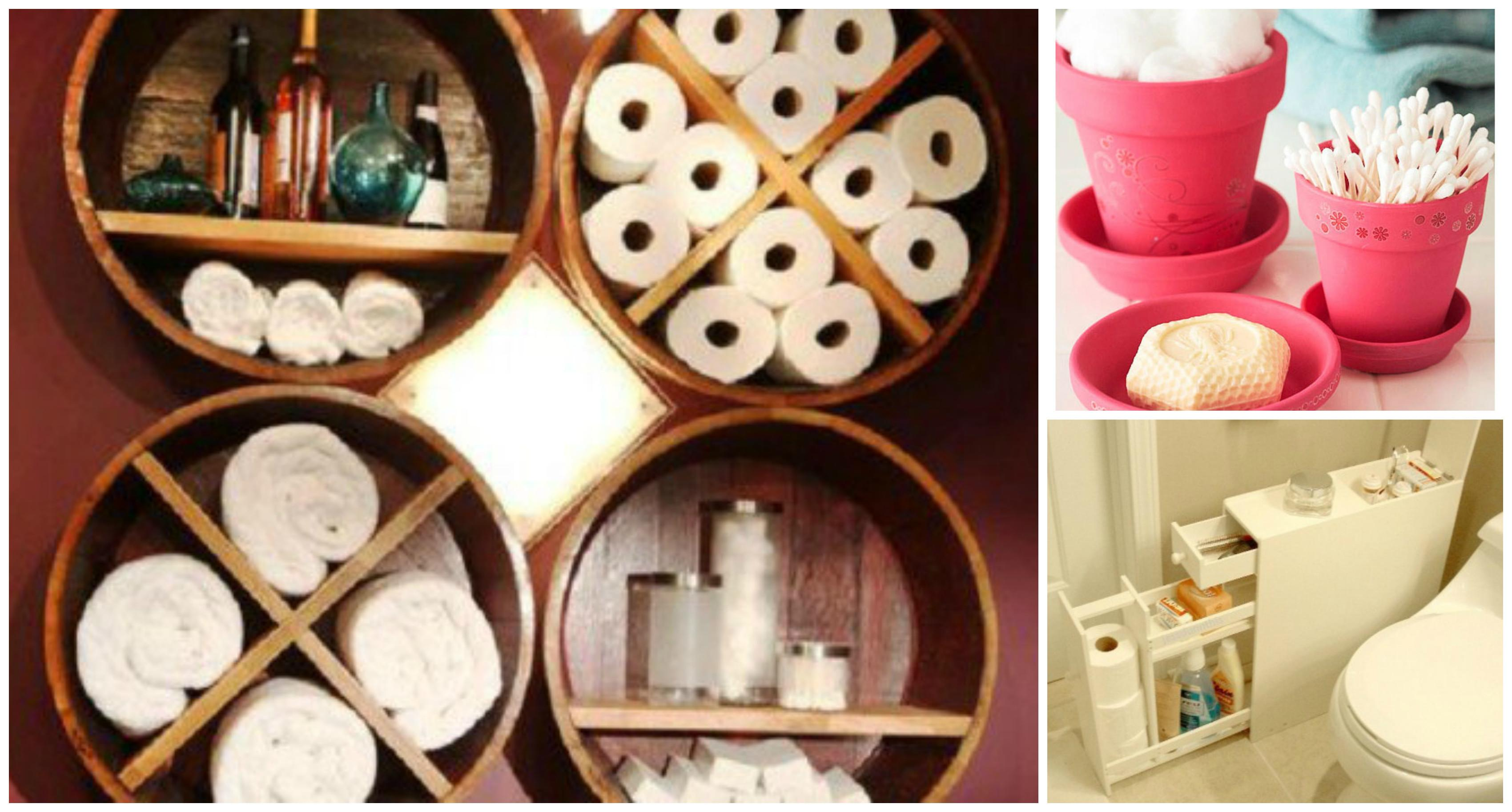 Creative Diy Small Bathroom Storage Ideas Cozy Home