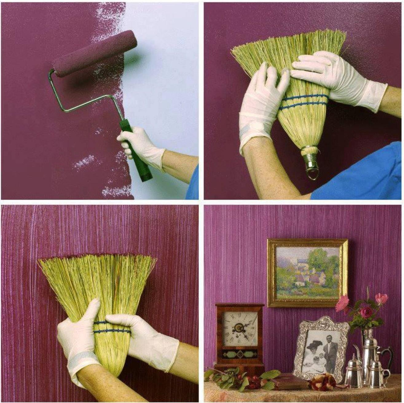 Creative Diy Textured Walls Using Whisk Broom Stylish Eve