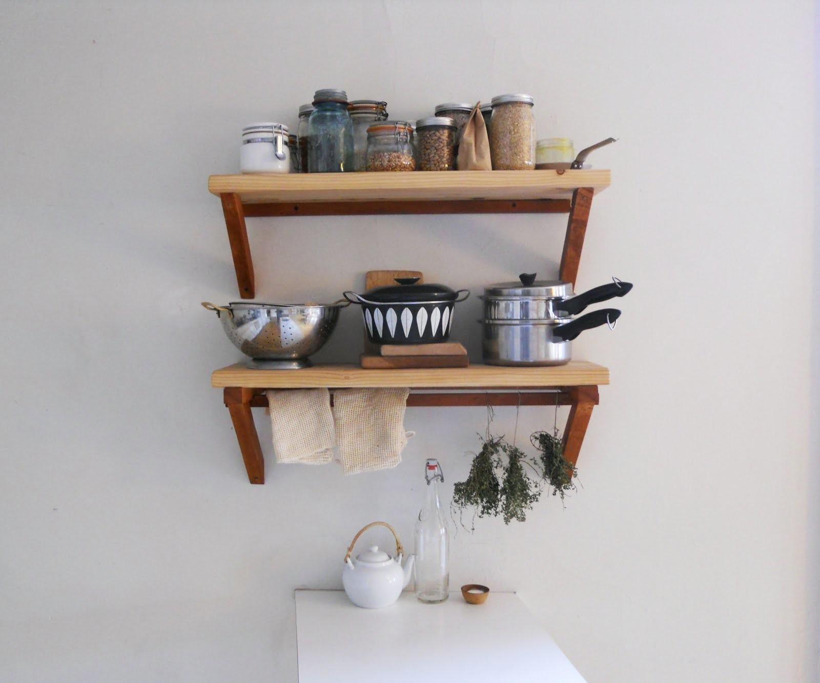 Hudson Walnut Floating Wall Mounted Shelf Kitchen Bath Living Room Shelves Units Furniture Home Garden