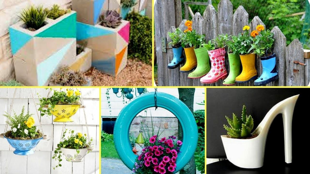 Creative Garden Flower Pot Ideas 2017 Diy